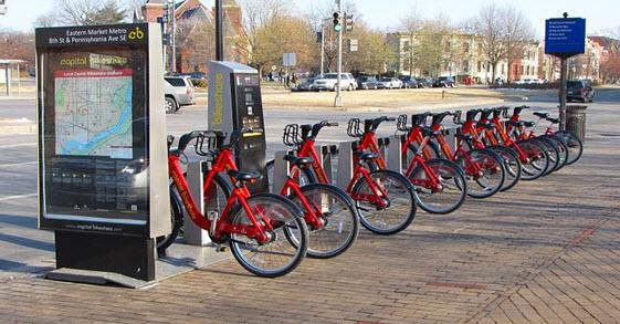 اشتراک دوچرخه در پایتخت ( واشنگتن )