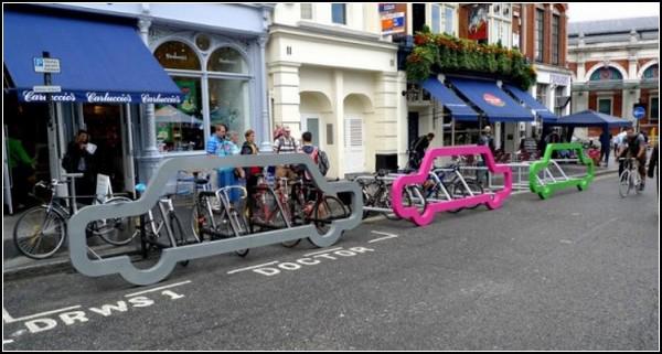 پارکینگ دوچرخه با طرح ماشین