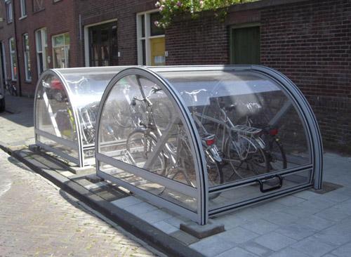 پارکینگ مسقف دوچرخه در پیاده روها (هلند)