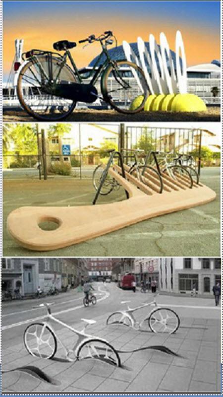 تصاویری از پارکینگ های جالب دوچرخه