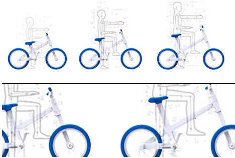 دوچرخه ای با ابعاد متغیر