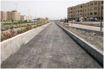 مسیر دوچرخه بزرگراه میثاق شهر مشهد در هر دو سمت محور اجرایی شد