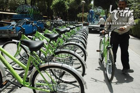 دوچرخه سواری در پارک ها