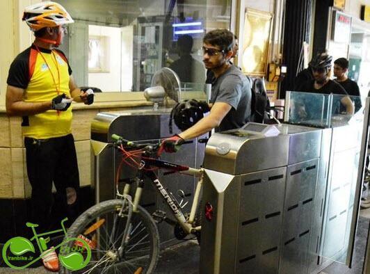 آمار سفرهای ترکیبی مترو-دوچرخه