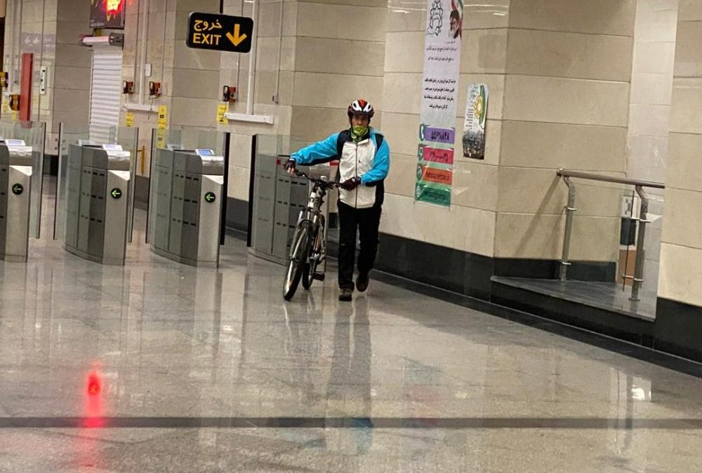 بیش ازسه هزار و ۴۵۰ دوچرخه سوار در شش ماه گذشته با مترو تردد کردند