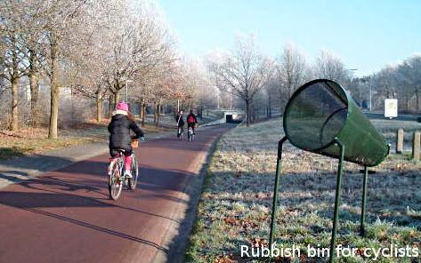 سطل زباله مخصوص دوچرخه سواران