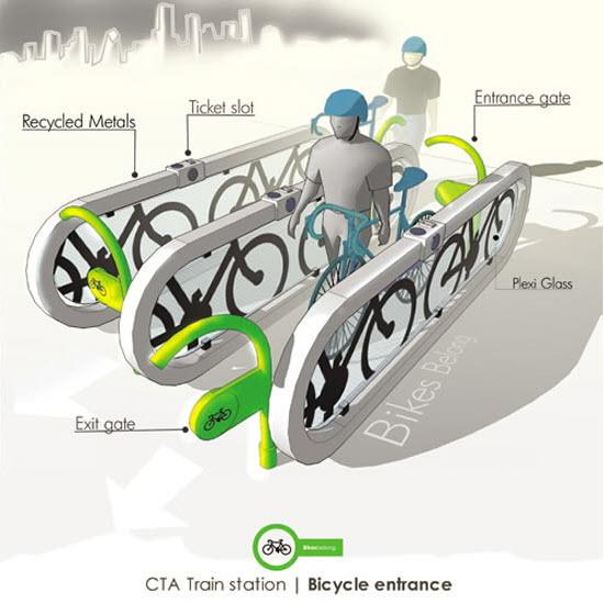 سیستمی برای استفاده آسان از دوچرخه در مترو