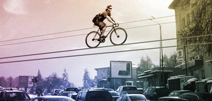 خطوط دوچرخه مفهومی در آسمان