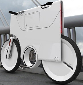دوچرخهای شبیه پاکت نامه