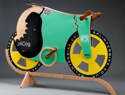 دوچرخه کاملا چوبی در آرزوی ثبت رکورد سرعت