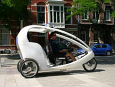 سه چرخه تاکسی در آمستردام