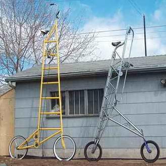 دوچرخه با ارتفاع 12 متر