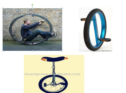 دوچرخه های تک چرخ !