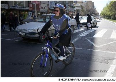 گزارش تصویری شیرزنان از دختران دوچرخه سوار در سطح شهر