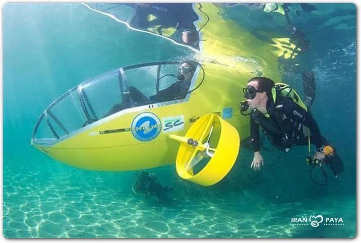 دوچرخه زیر آبی !