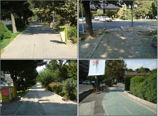 پيشبيني مسير دوچرخه و عابرپياده در پيرامون پارك لاله و دانشگاه تهران