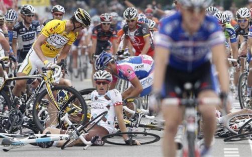 تصاویری از تصادف دوچرخه