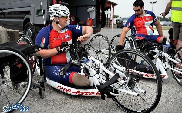 دوچرخه ای ویژه معلولین جسمی!