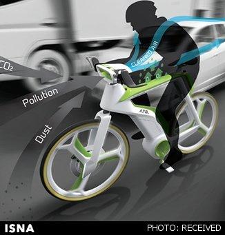 دوچرخهای که آلودگی هوا را میخورد!