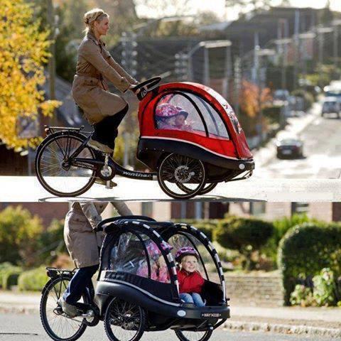 دوچرخه ای مخصوص مادران وبچه