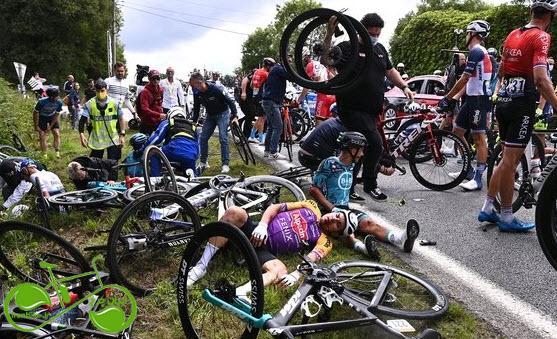 حادثه عجیب در مسابقات تور دو فرانس ۲۰۲۱+ فیلم