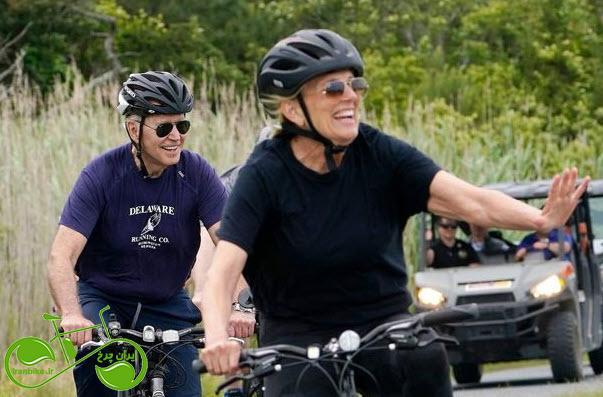 دوچرخهسواری جو بایدن در روز جهانی دوچرخهسواری